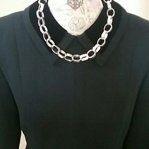 Silver Tone Chain Link Choker/Necklace